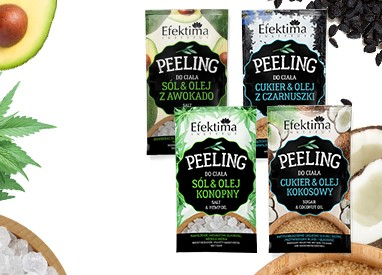 Efektima Salt and sugar body peelings